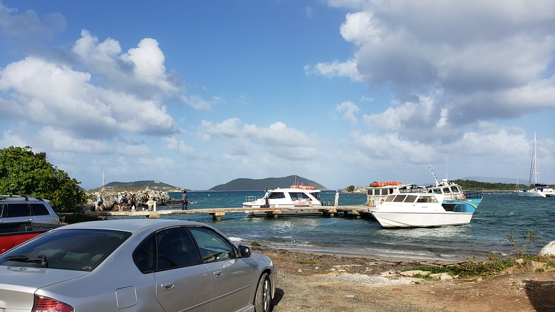 Catching the ferry from Trellis Bay to Scrub Island
