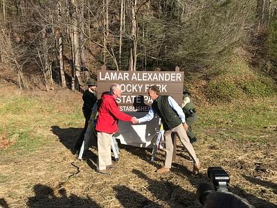 Rocky Fork State Park Renamed for Sen. Lamar Alexander - January 2019