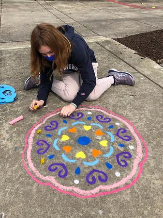 Chalk Mandalas - Art Class