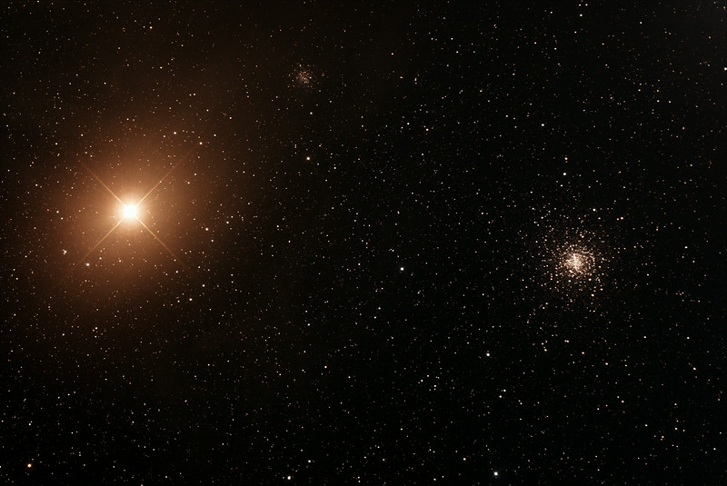 Messier M4 - Globular Cluster with Antares in Scorpius - 28/6/2014 (Processed Stack)