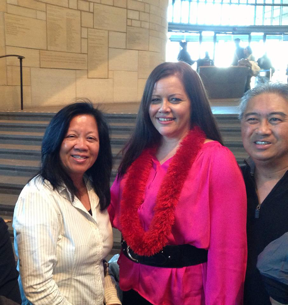Amy Hanaiali'i Gilliom at National Museum of the American Indian in Washington DC - Jan. 19, 2013 during Pres. Barack Obama's 2nd Inaugural