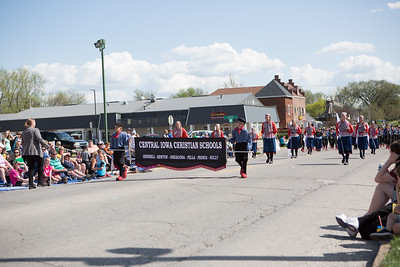 05-04-2018 Central Iowa Christian Schools Marching Band @ Pella Tulip Time Parade