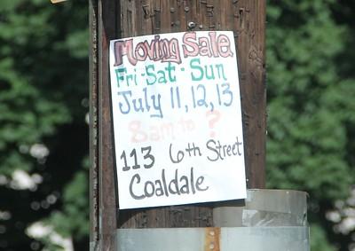 Yard Sale Signs Left Up Around Town, Tamaqua (7-24-2014)