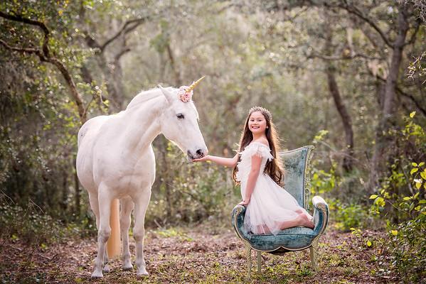 Ava her bestie and her unicorn Jan 2018