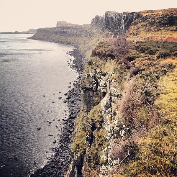 Tobhta Uachdrach cliffside, home of the magic fairy pipes, Isle of Skye #Scotland #blogmanay