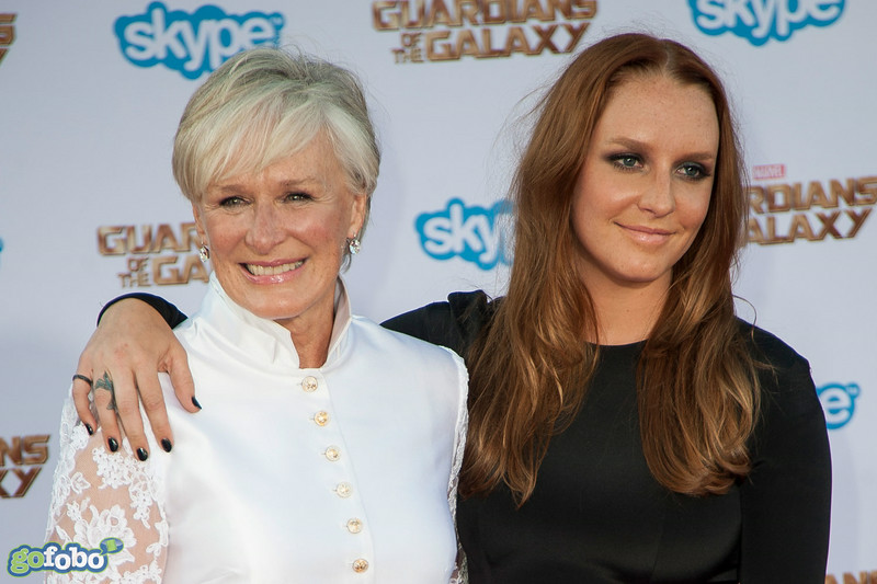 HOLLYWOOD, CA - JULY 21: Actresses Glenn Close (L) and Annie Maude Starke attend Marvel's 'Guardians Of The Galaxy' Los Angeles Premiere at the Dolby Theatre on Monday July 21, 2014 in Hollywood, California. (Photo by Tom Sorensen/Moovieboy Pictures)