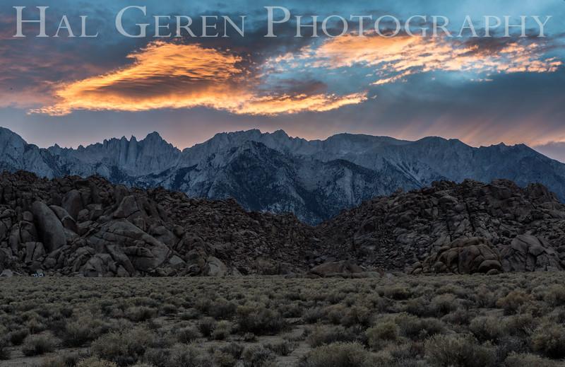 Alabama Hills Sunset Lone Pine, California 1610S-AHS2