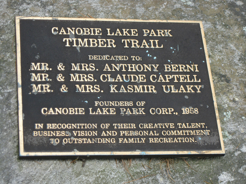 Timber Trail plaque.