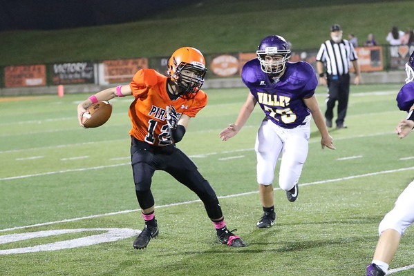 07JH Junior High Football:  Valley 8th grade at Wheelersburg 8th grade 2017