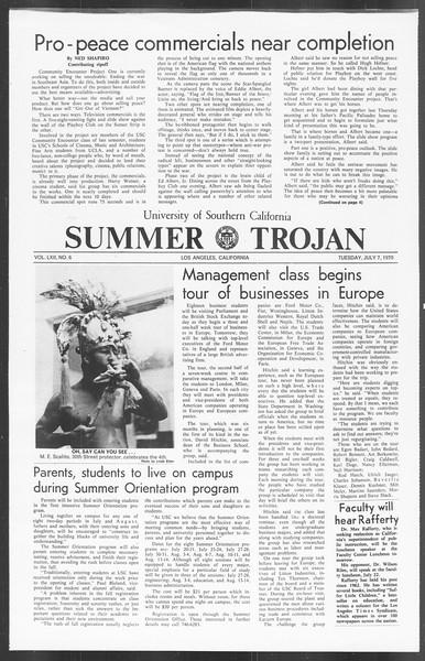 Summer Trojan, Vol. 62, No. 5, July 07, 1970