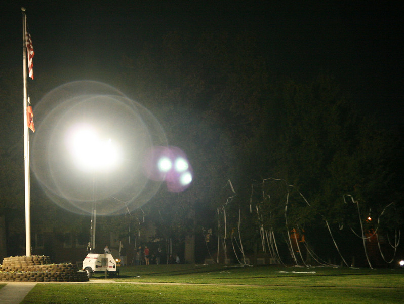 """Several trees on the Quad ended up """"TPed"""" around midnight Friday night, despite the school's best efforts to keep Homecoming pranks to a minimum."""