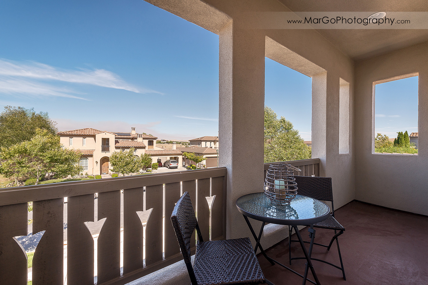 upstairs balcony at San Ramon house - real estate photography