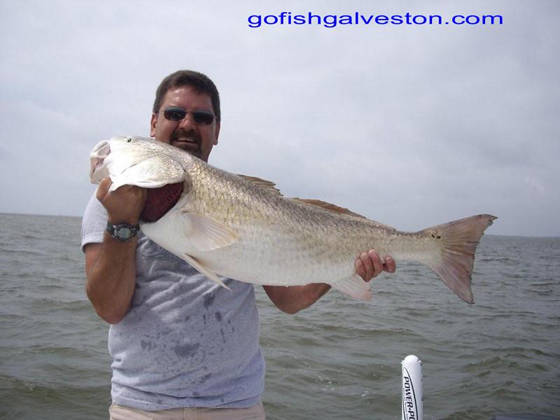 """Robert Pierce with 40"""" Redfish"""