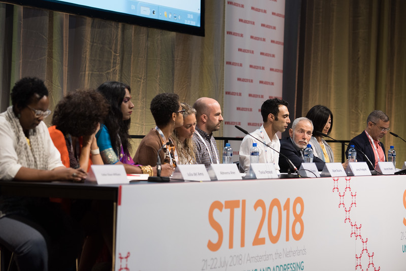 22nd International AIDS Conference (AIDS 2018) Amsterdam, Netherlands   Copyright: Marcus Rose/IAS  Photo shows: STI 2018. Key and Marginalised Populations. Speaker: Jonny Friedgood.
