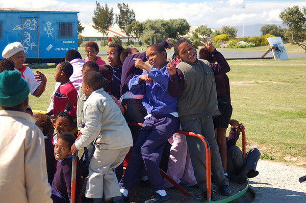 Flying Kites with S. African kids