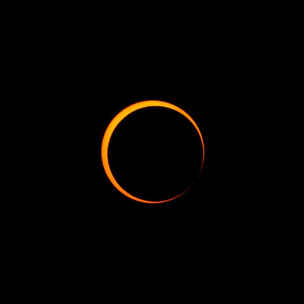 Crescent sun - almost to maximum. Taken in Redding, California.
