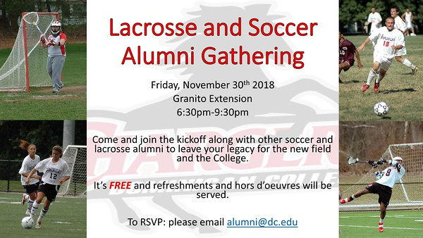 2018 Soccer and Lacrosse Alumni Gathering