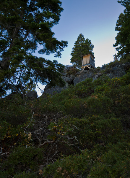 There's a trail leading to the Rubicon Lighthouse, but we headed back to camp for dinner.