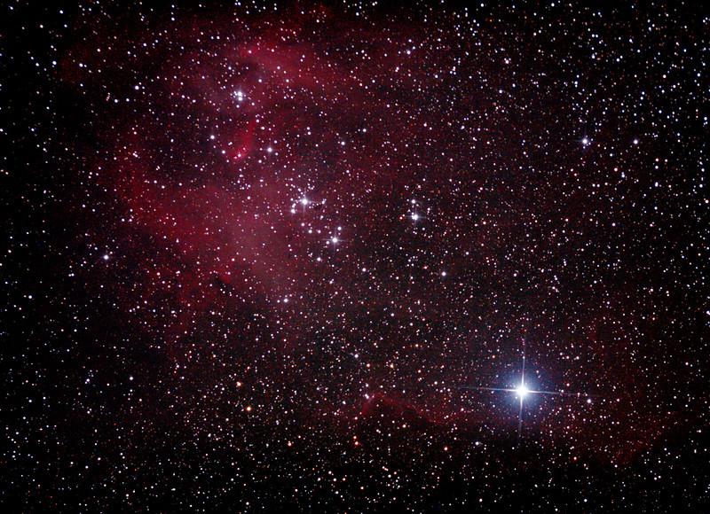 Caldwell 100 - IC2944 - Gum 42 - Running Chicken or Lamda Centauri Nebula - 7/4/2013 (Processed cropped stack)