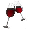 Toast of two red wine glasses