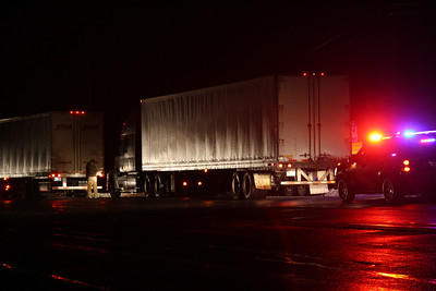 Tractor Trailers Sideswipe Each Other, SR443, SR309, West Penn (1-23-2012)