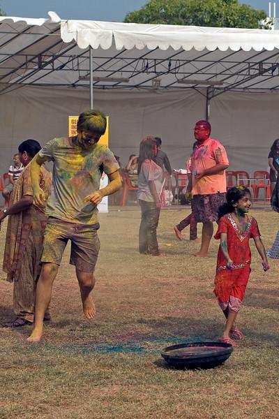 Playing around at Singapore Holi Festival