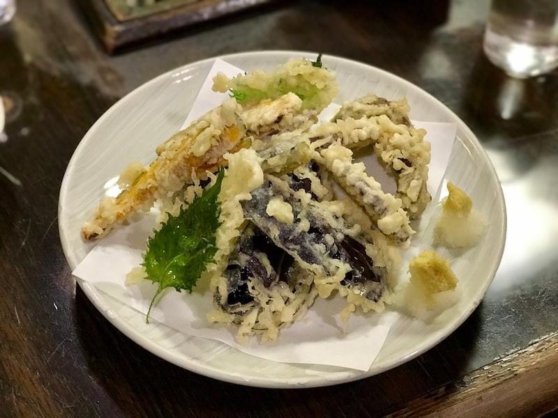 Assorted vegetable tempura.