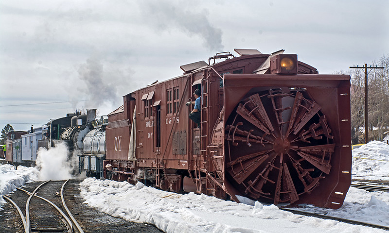 February 28, 2020.  Switching at Chama in preparation of plowing on the weekend.