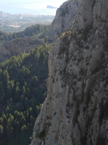 Ascending the Ponoch Via Ferrata