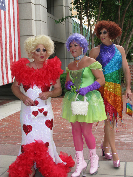 And this is why:  Dorothy is on the left with the Ruby Slippers.