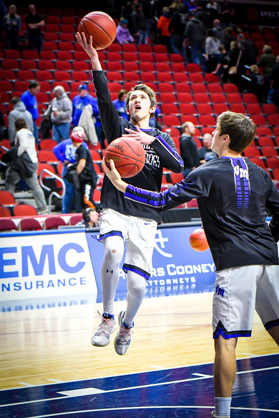 Van Meter Boys Basketball vs Dike New Hartford State Quarterfinals 3-3-19