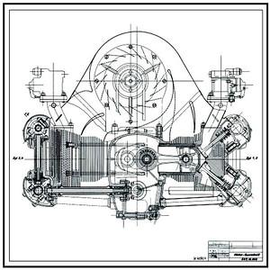 356 Carrera 4-cam engine