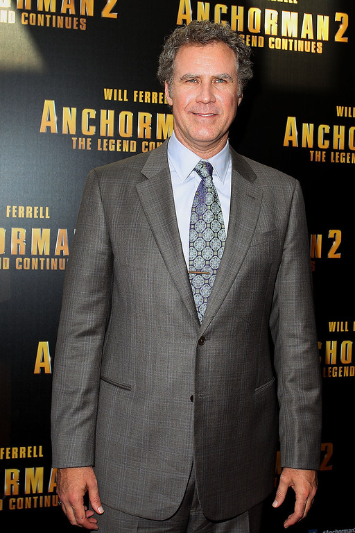 ". Will Ferrell arrives at the ""Anchorman 2: The Legend Continues\"" Australian premiere at The Entertainment Quarter on November 24, 2013 in Sydney, Australia.  (Photo by Lisa Maree Williams/Getty Images)"