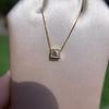 .70ct French Cut Diamond Bezel Pendant, 18kt Yellow Gold 11