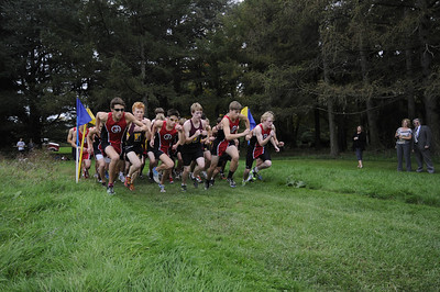 Varsity cross-country action