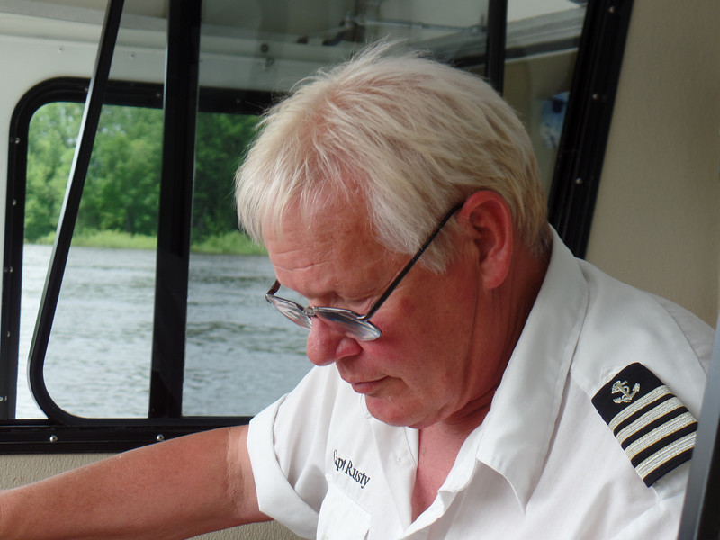Rusty - River Boat Captain & Guide on Rusty's Red Wing River Rides
