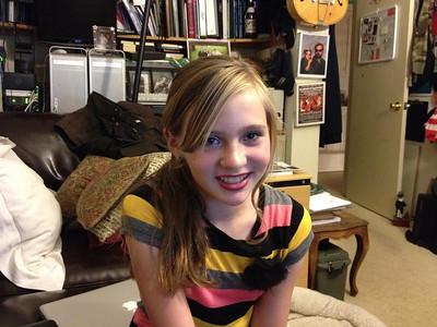 Katherine Wearing Stripes