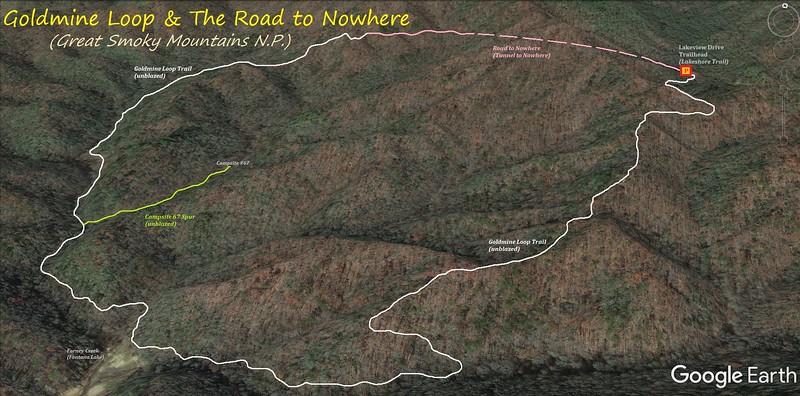Goldmine Loop Hike Route Map