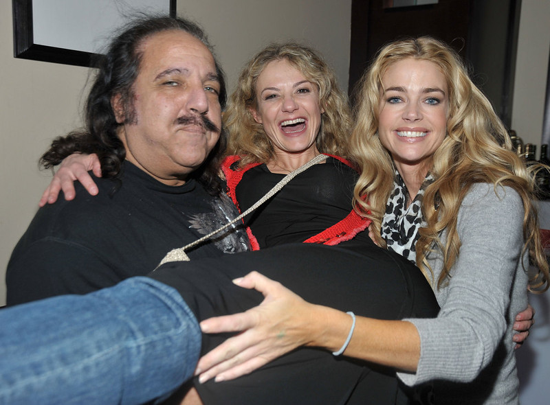 ". (L-R) Actor Ron Jeremy, director Julie Davis, and actor Denise Richards attend the ""Finding Bliss\"" party held at the Hollywood Life House during the 2009 Slamdance Film Festival on January 18, 2009 in Park City, Utah.  (Photo by Frazer Harrison/Getty Images)"