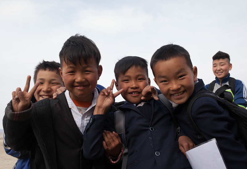 Surrounded by scholars, Mongolia