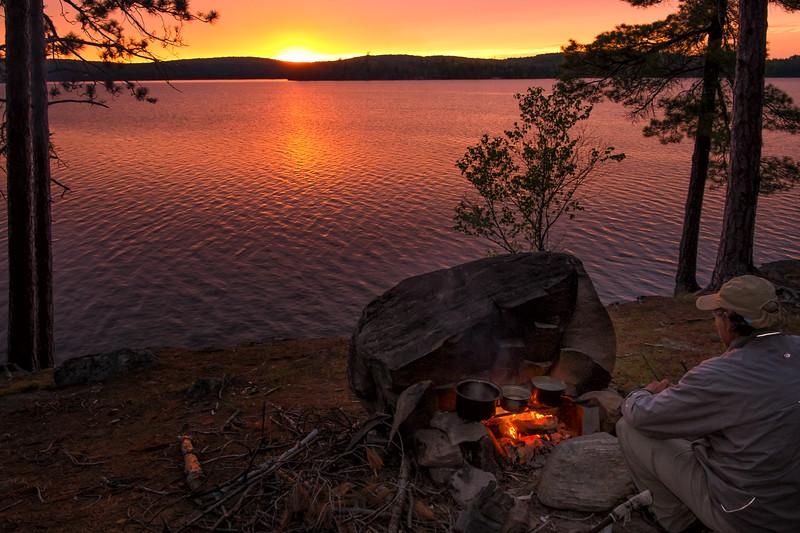 Campfire Dinner at Sunset