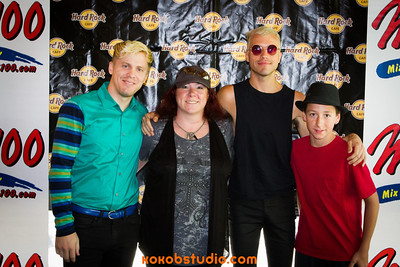 2012-07-19 - Mix100 - Neon Trees - Meet n Greet