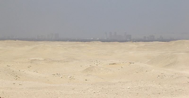 Kairo sett fra Djosers gravkompleks (Foto: Ståle)