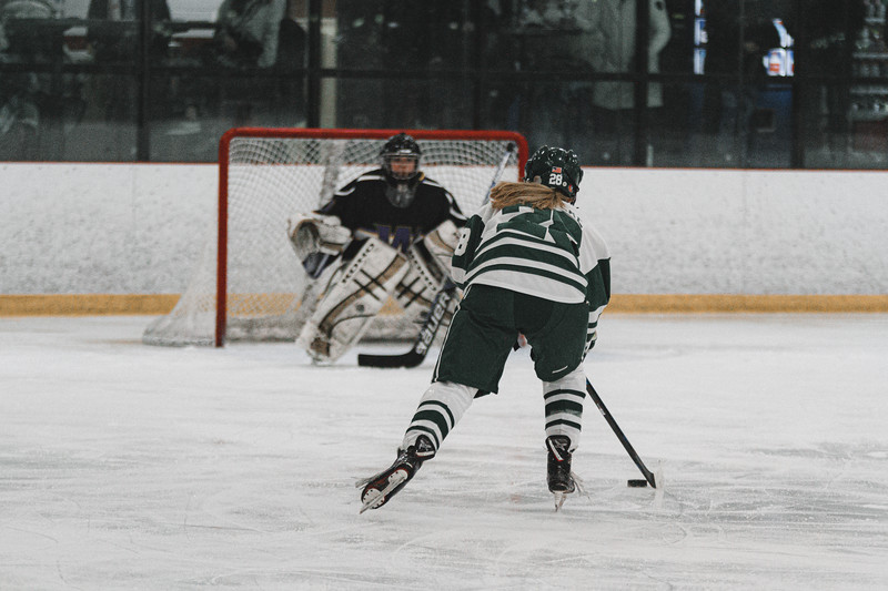 Holy Family Varsity Girls Hockey vs. Waconia, 1/9/20: Kayla Woytcke '22 (28)