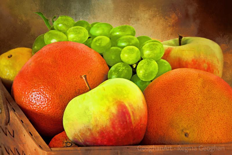 Fruit Bounty Basket Still Life