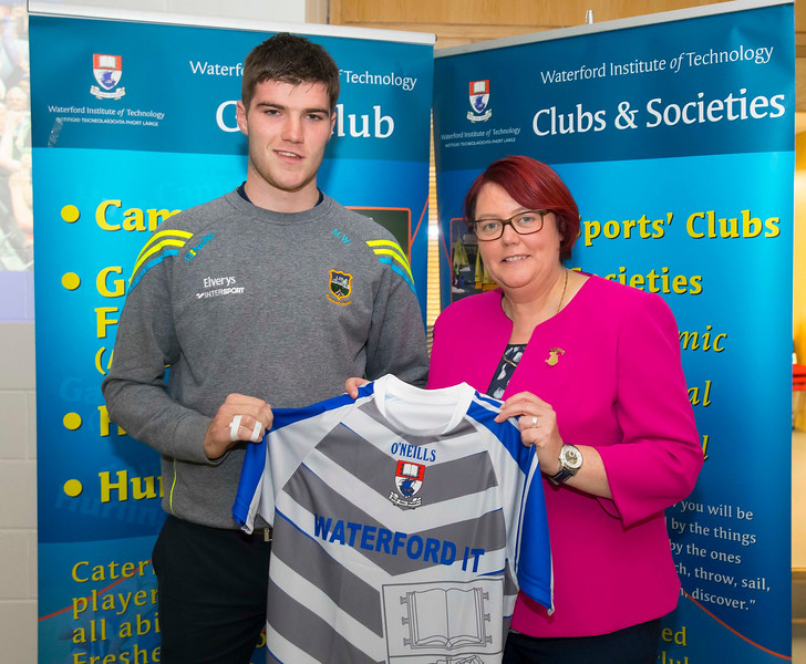WIT holds event to honour 2016 All Ireland medal winning students. Pictured is Michael Whelan of the Tipperary Minor Hurling Team and President of the Camogie Association Catherine Neary. Picture: Patrick Browne  Waterford Institute of Technology's presence and influence across Gaelic Games at a national level in 2016 has been very noticeable. In total there are 32 past and present WIT students on the respective playing panels that won All Ireland medals in 2016 and a further 4 members on the backroom management teams.   To honour this huge achievement, WIT GAA Club is paying tribute to these 36 past members on securing these prestigious national titles on Monday 3 October, 6.30pm at the WIT Arena.   Along with the players, the prestigious cups, including the All Ireland Senior Hurling Cup- Liam McCarthy, the All Ireland Senior Camogie Cup- O'Duffy, The All Ireland Minor Cup and the All Ireland Under 21 Hurling Cup- James Nowlan, will be on show on the night.