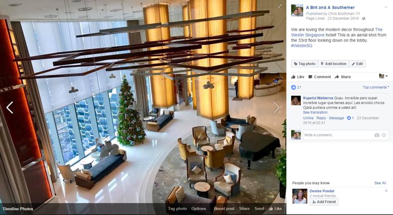 westin singapore hotel lobby