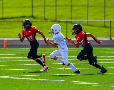 Youth Football: A7 AYFL Buccaneers vs CLYFL_Chargers 08252018 (by Al Shipman)