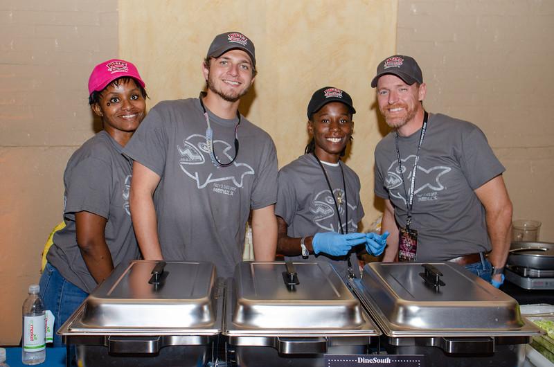 Carne, Nick, G, & Christian of Fuzzy's Taco Shop