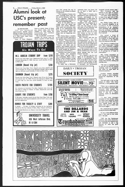 Daily Trojan, Vol. 60, No. 85, March 07, 1969